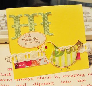 Hi and thank you card