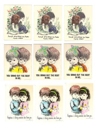 Postcard sheet