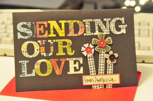 Sending our love card - small