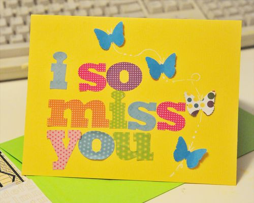 I so miss you card